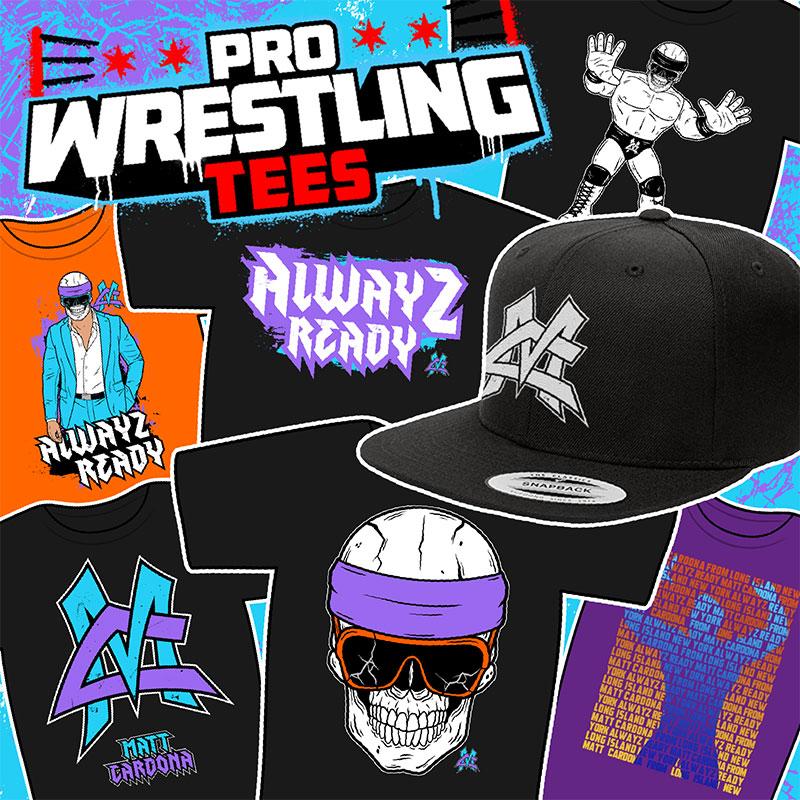 Pro Wrestling Tees Merch Banner